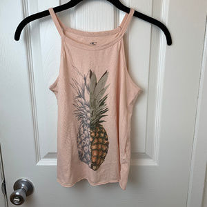 O'Neill Pink Pineapple Tank Top. Large
